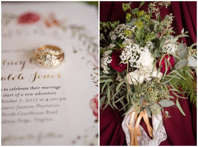 Red Wine Moss Green Fall Autumn Wedding Historic Jasmine Plantation Providence Forge Virginia Wedding Photographers_6455