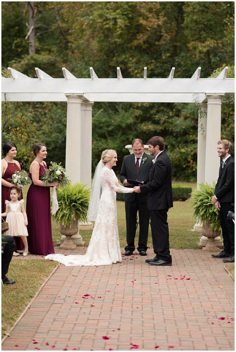 Red Wine Moss Green Fall Autumn Wedding Historic Jasmine Plantation Providence Forge Virginia Wedding Photographers_6550