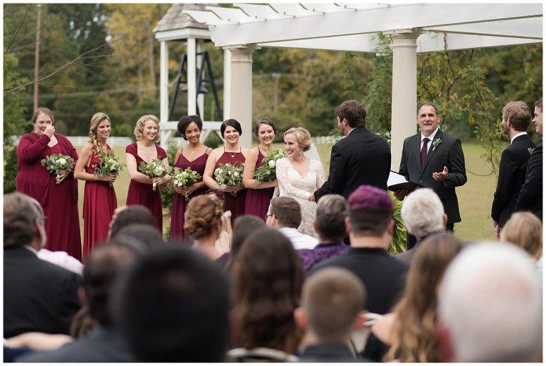 Red Wine Moss Green Fall Autumn Wedding Historic Jasmine Plantation Providence Forge Virginia Wedding Photographers_6553