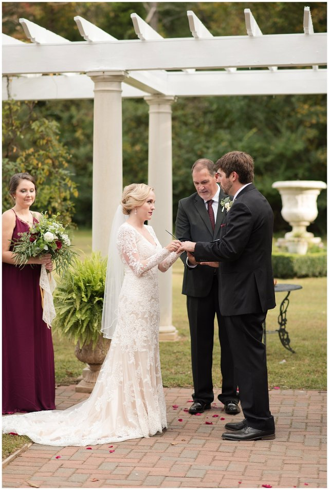 Red Wine Moss Green Fall Autumn Wedding Historic Jasmine Plantation Providence Forge Virginia Wedding Photographers_6560