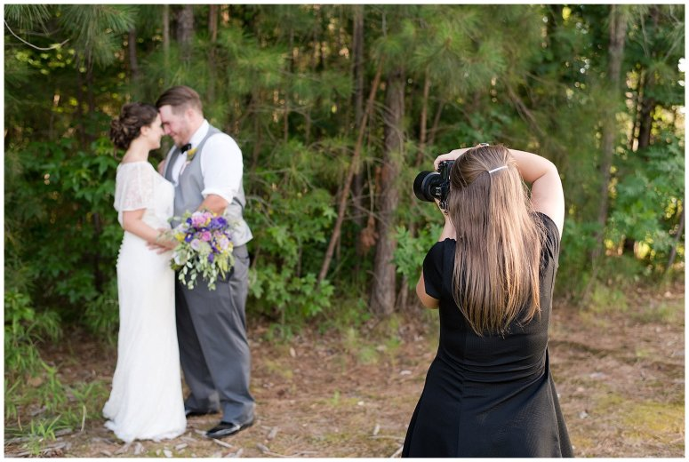 Behind Scenes Real Life Virginia Wedding Photographers Husband and Wife Team Hampton Roads_7410