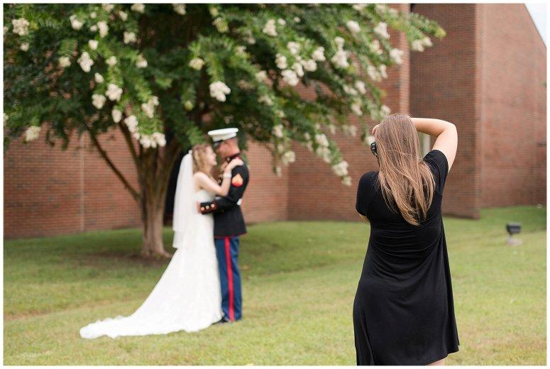 Behind Scenes Real Life Virginia Wedding Photographers Husband and Wife Team Hampton Roads_7413