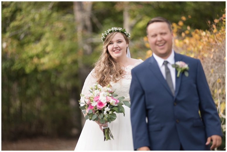 Navy Blue and Pink October Backyard North Carolina Wedding Virginia Wedding Photographers_6970