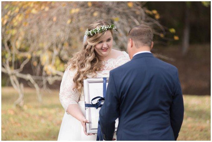 Navy Blue and Pink October Backyard North Carolina Wedding Virginia Wedding Photographers_6976