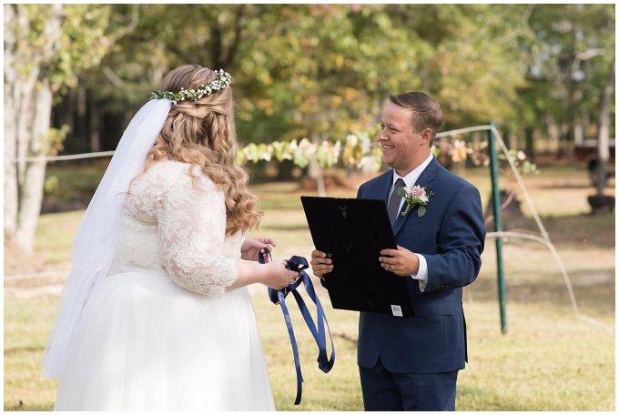 Navy Blue and Pink October Backyard North Carolina Wedding Virginia Wedding Photographers_6979