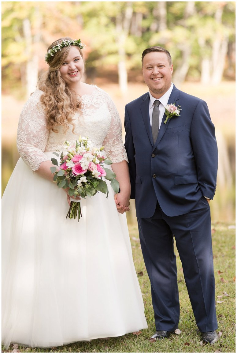 Navy Blue and Pink October Backyard North Carolina Wedding Virginia Wedding Photographers_6980