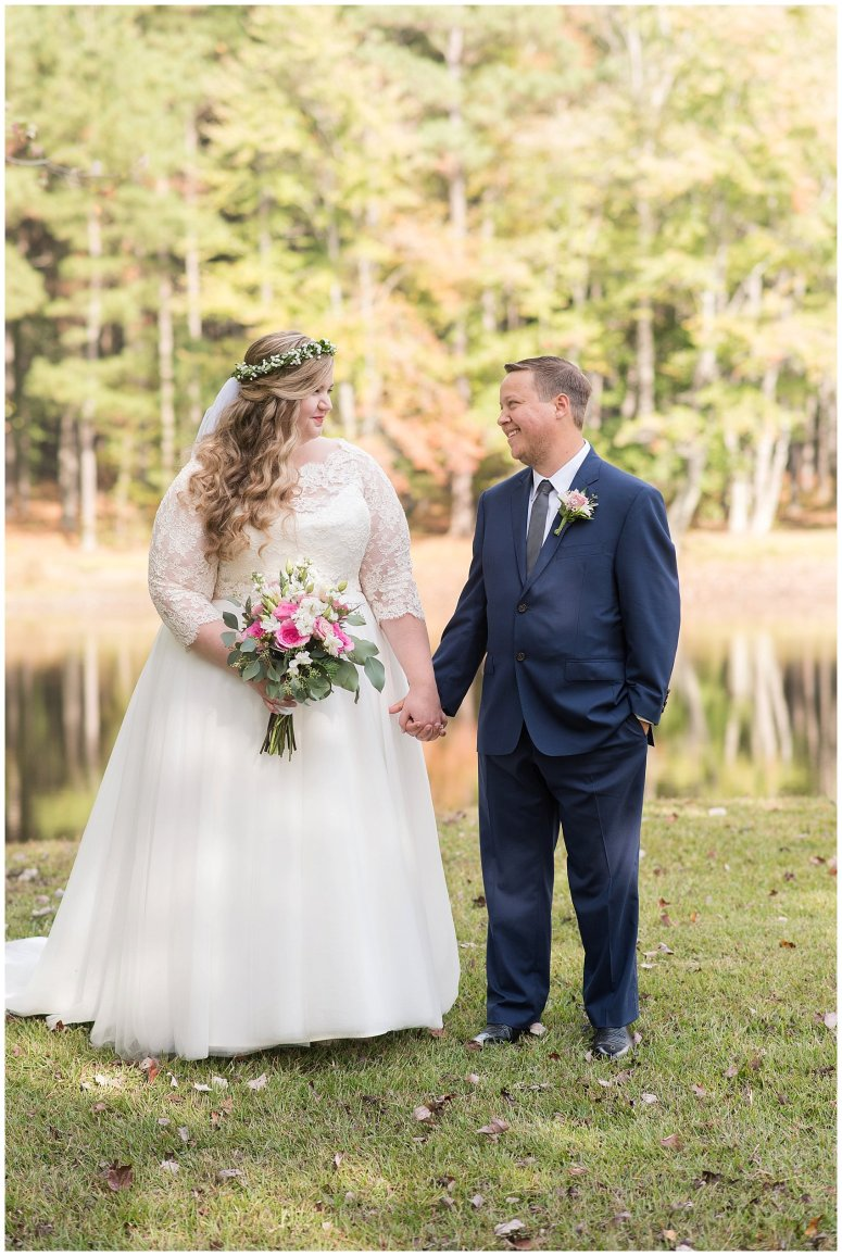 Navy Blue and Pink October Backyard North Carolina Wedding Virginia Wedding Photographers_6981