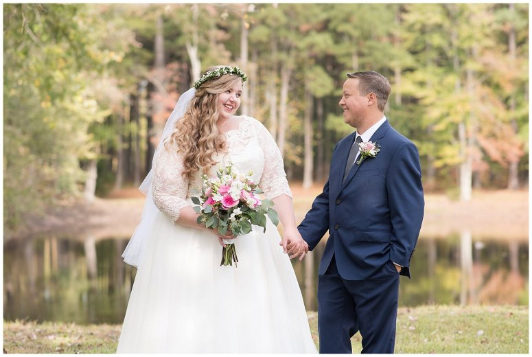 Navy Blue and Pink October Backyard North Carolina Wedding Virginia Wedding Photographers_6982