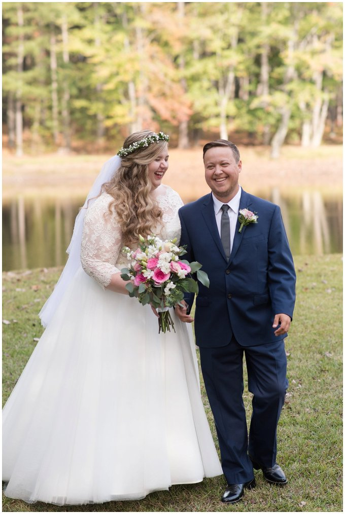 Navy Blue and Pink October Backyard North Carolina Wedding Virginia Wedding Photographers_6984