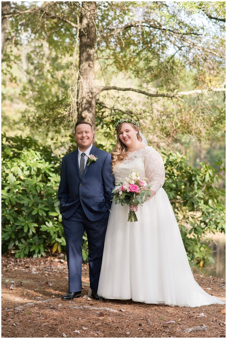 Navy Blue and Pink October Backyard North Carolina Wedding Virginia Wedding Photographers_6986