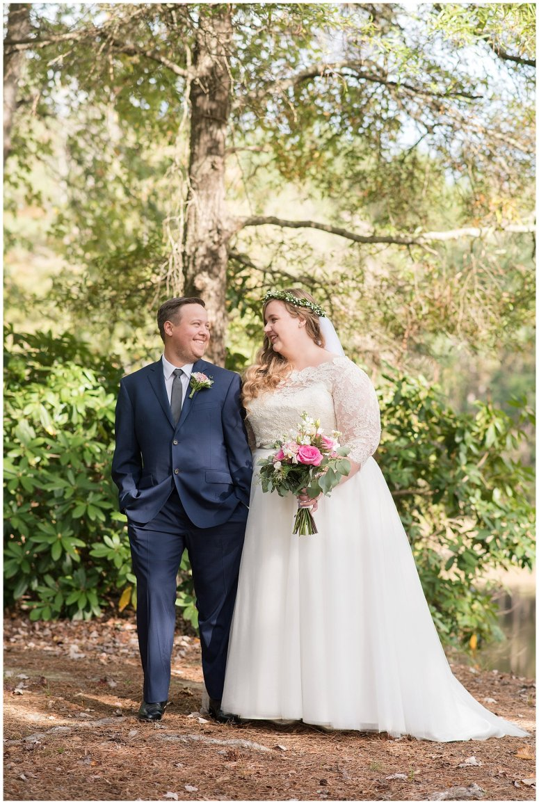 Navy Blue and Pink October Backyard North Carolina Wedding Virginia Wedding Photographers_6988