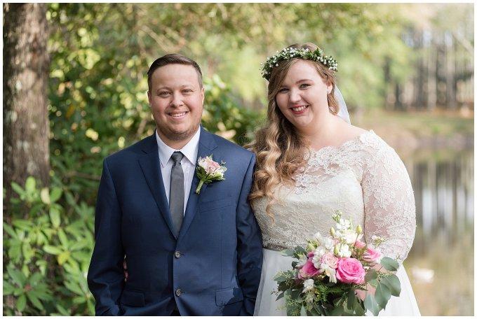 Navy Blue and Pink October Backyard North Carolina Wedding Virginia Wedding Photographers_6989