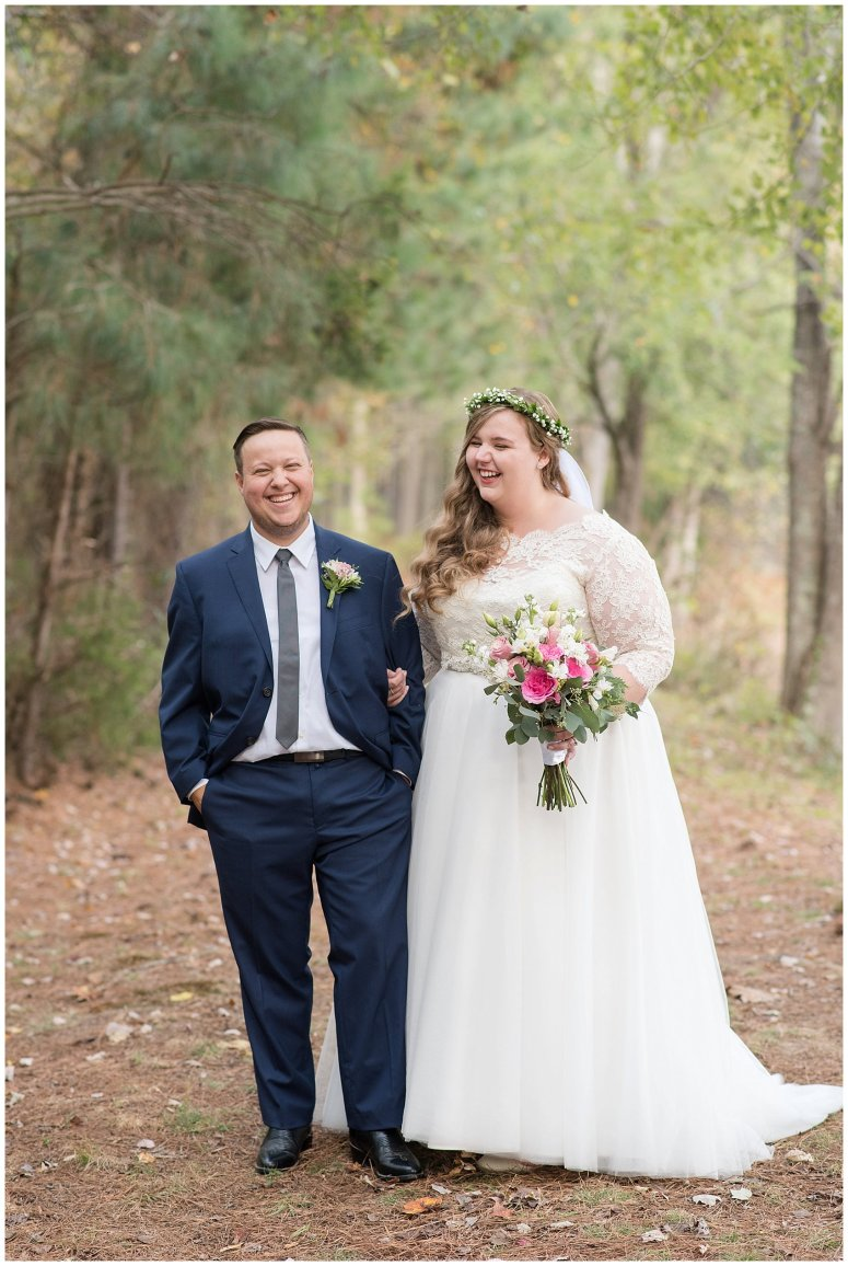 Navy Blue and Pink October Backyard North Carolina Wedding Virginia Wedding Photographers_6991