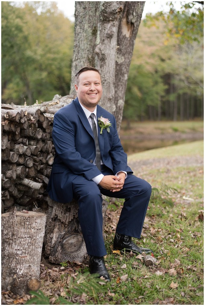 Navy Blue and Pink October Backyard North Carolina Wedding Virginia Wedding Photographers_7011