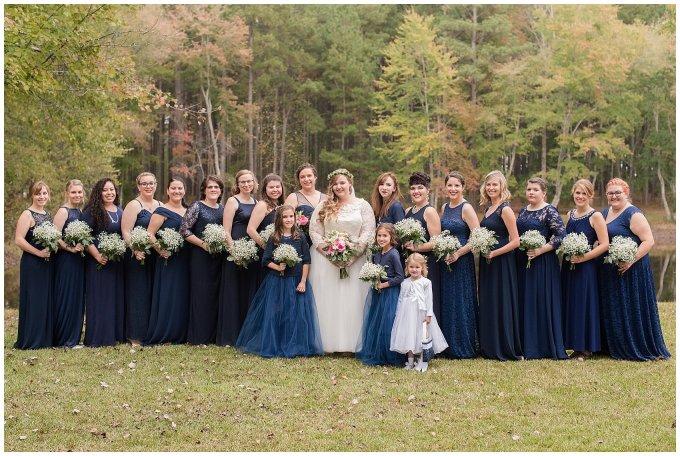 Navy Blue and Pink October Backyard North Carolina Wedding Virginia Wedding Photographers_7014