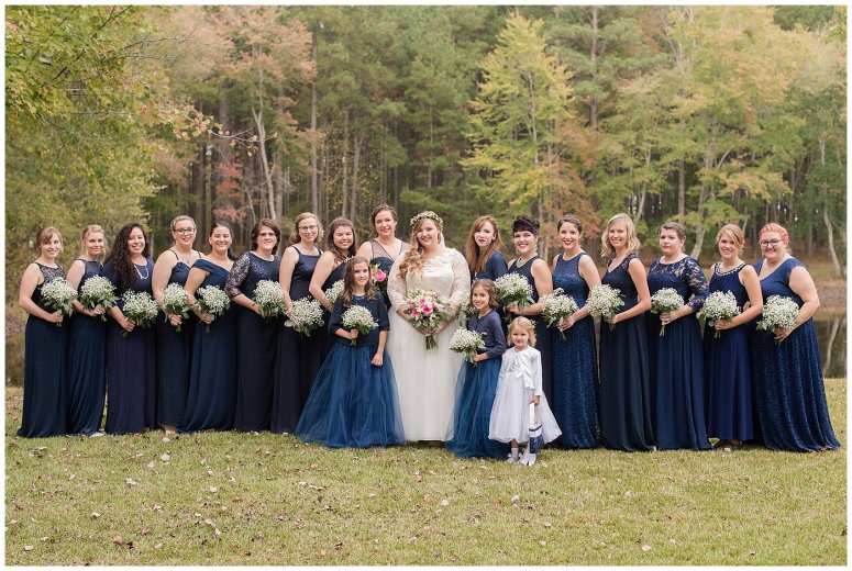 Navy Blue and Pink October Backyard North Carolina Wedding Virginia Wedding Photographers_7014