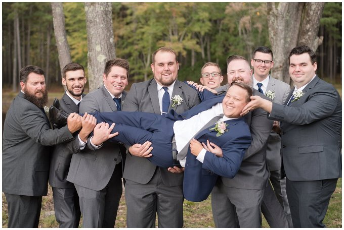 Navy Blue and Pink October Backyard North Carolina Wedding Virginia Wedding Photographers_7019
