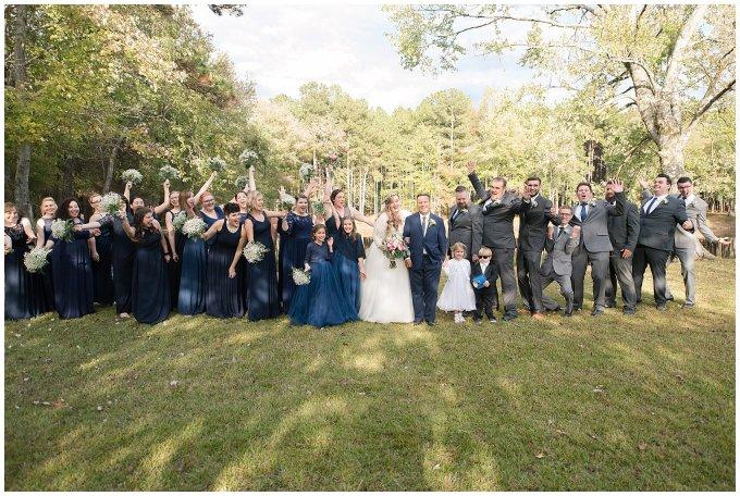 Navy Blue and Pink October Backyard North Carolina Wedding Virginia Wedding Photographers_7021