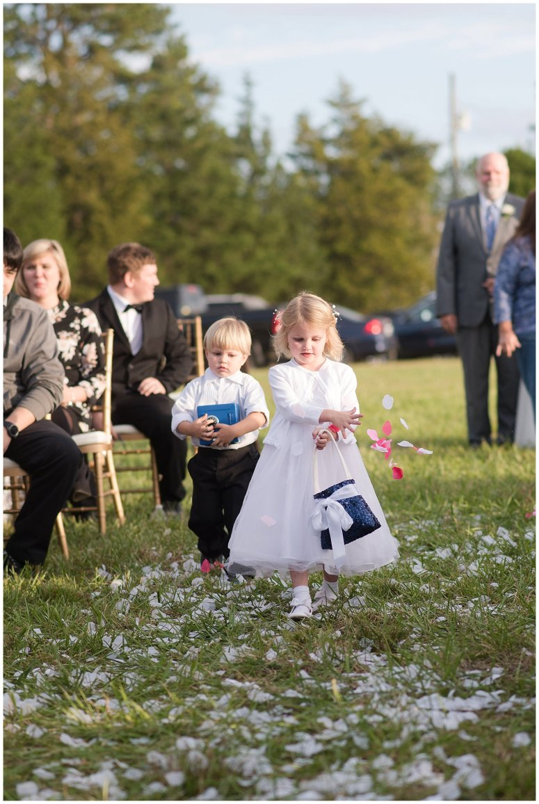 Navy Blue and Pink October Backyard North Carolina Wedding Virginia Wedding Photographers_7028