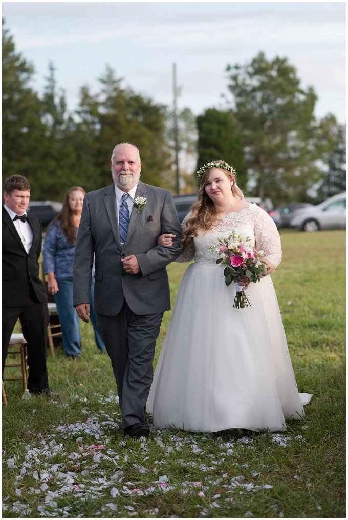 Navy Blue and Pink October Backyard North Carolina Wedding Virginia Wedding Photographers_7030