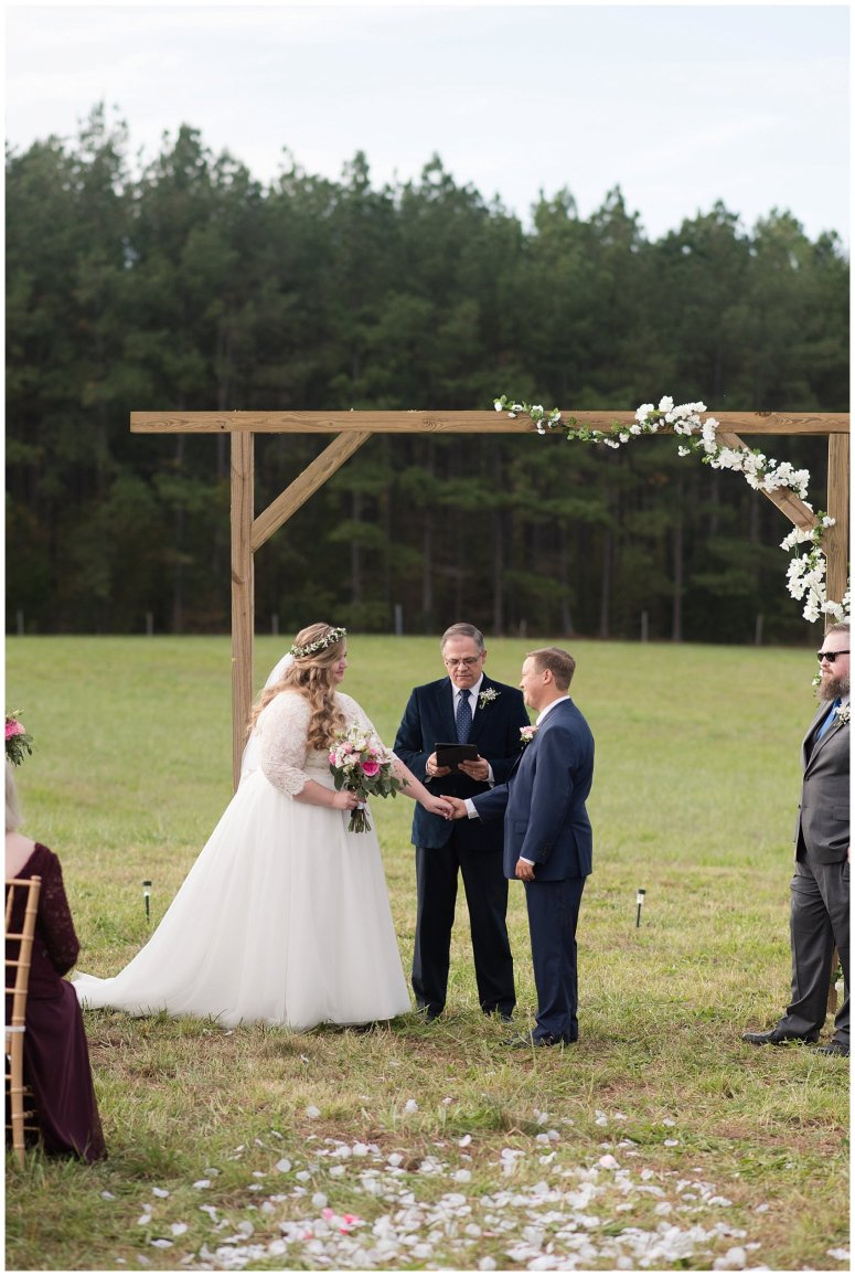 Navy Blue and Pink October Backyard North Carolina Wedding Virginia Wedding Photographers_7034