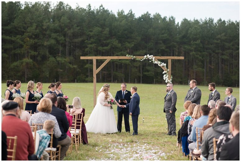 Navy Blue and Pink October Backyard North Carolina Wedding Virginia Wedding Photographers_7036