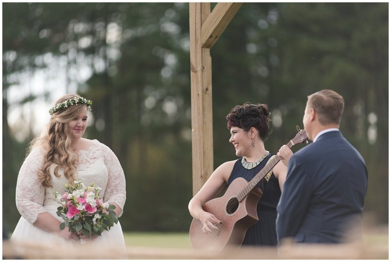 Navy Blue and Pink October Backyard North Carolina Wedding Virginia Wedding Photographers_7037