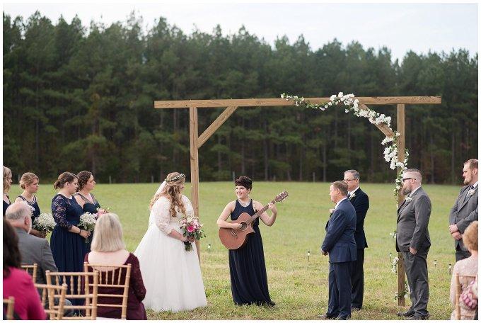Navy Blue and Pink October Backyard North Carolina Wedding Virginia Wedding Photographers_7038