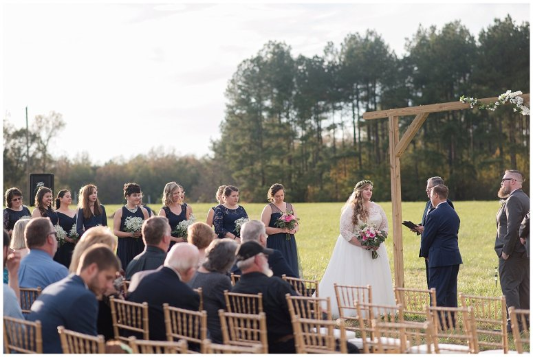 Navy Blue and Pink October Backyard North Carolina Wedding Virginia Wedding Photographers_7039