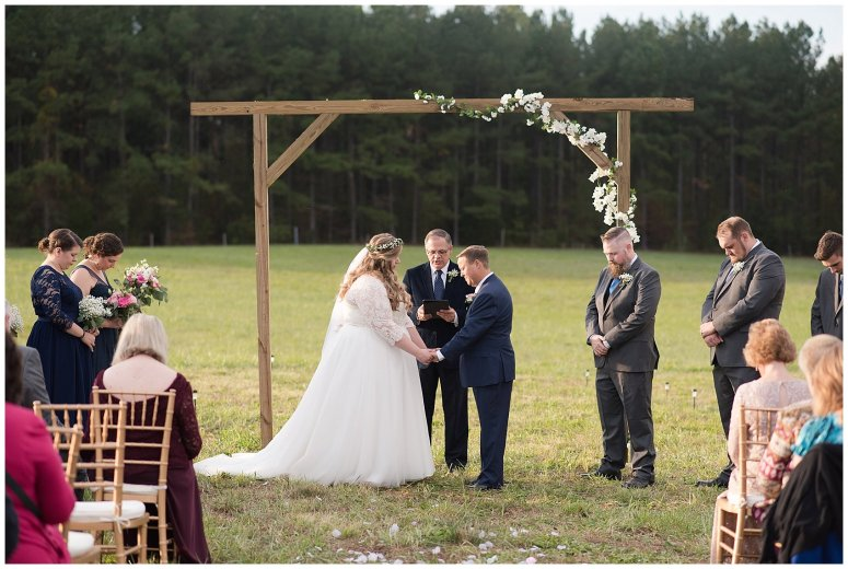 Navy Blue and Pink October Backyard North Carolina Wedding Virginia Wedding Photographers_7043
