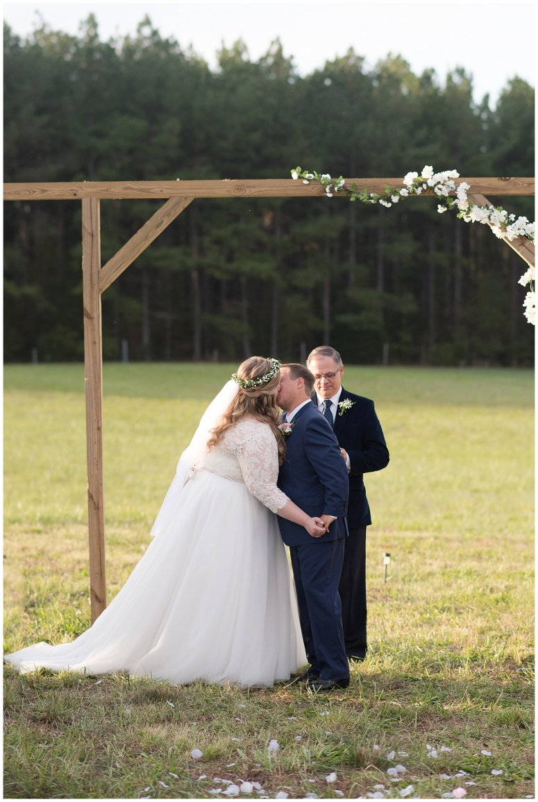 Navy Blue and Pink October Backyard North Carolina Wedding Virginia Wedding Photographers_7045