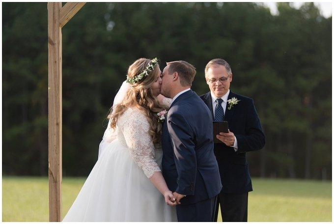 Navy Blue and Pink October Backyard North Carolina Wedding Virginia Wedding Photographers_7046
