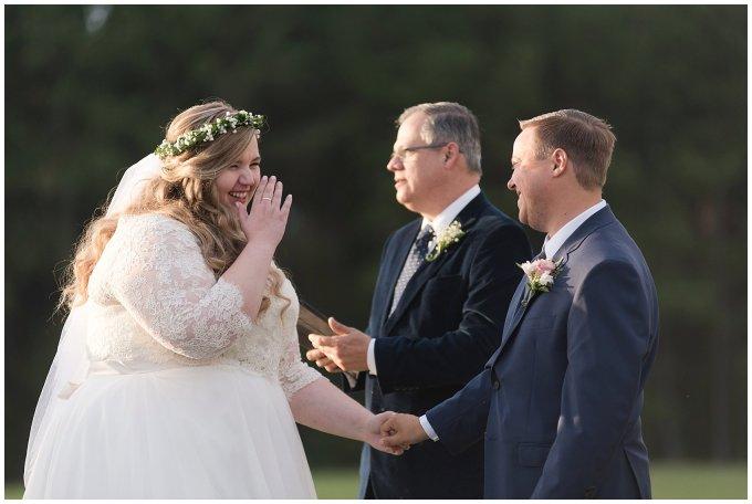Navy Blue and Pink October Backyard North Carolina Wedding Virginia Wedding Photographers_7047