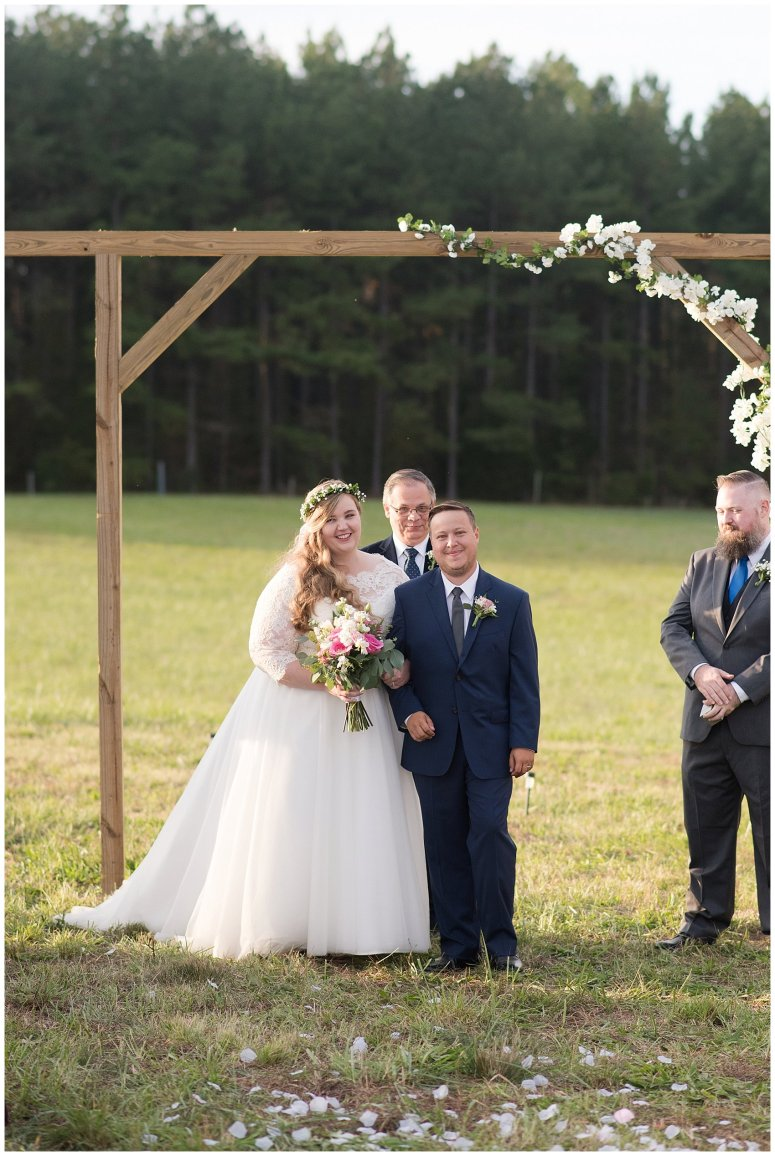 Navy Blue and Pink October Backyard North Carolina Wedding Virginia Wedding Photographers_7048