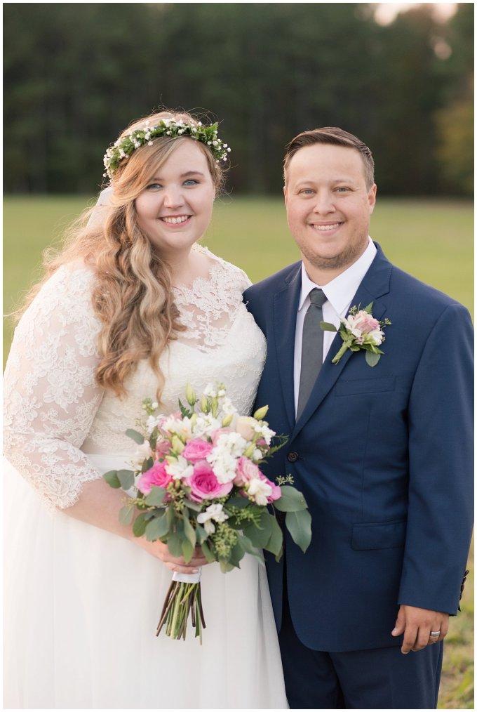 Navy Blue and Pink October Backyard North Carolina Wedding Virginia Wedding Photographers_7053