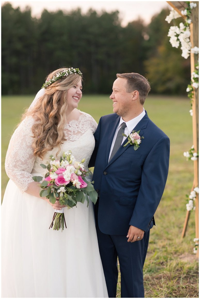 Navy Blue and Pink October Backyard North Carolina Wedding Virginia Wedding Photographers_7054