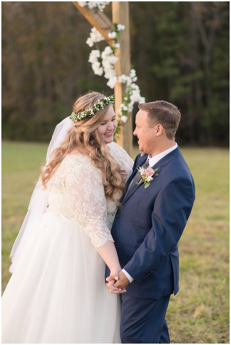 Navy Blue and Pink October Backyard North Carolina Wedding Virginia Wedding Photographers_7055