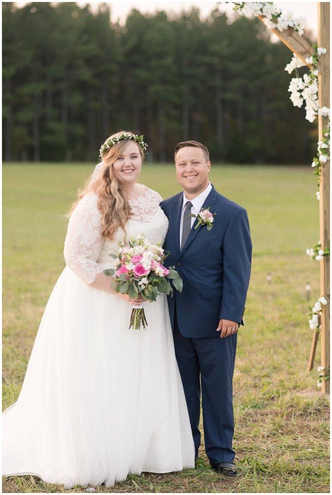 Navy Blue and Pink October Backyard North Carolina Wedding Virginia Wedding Photographers_7056