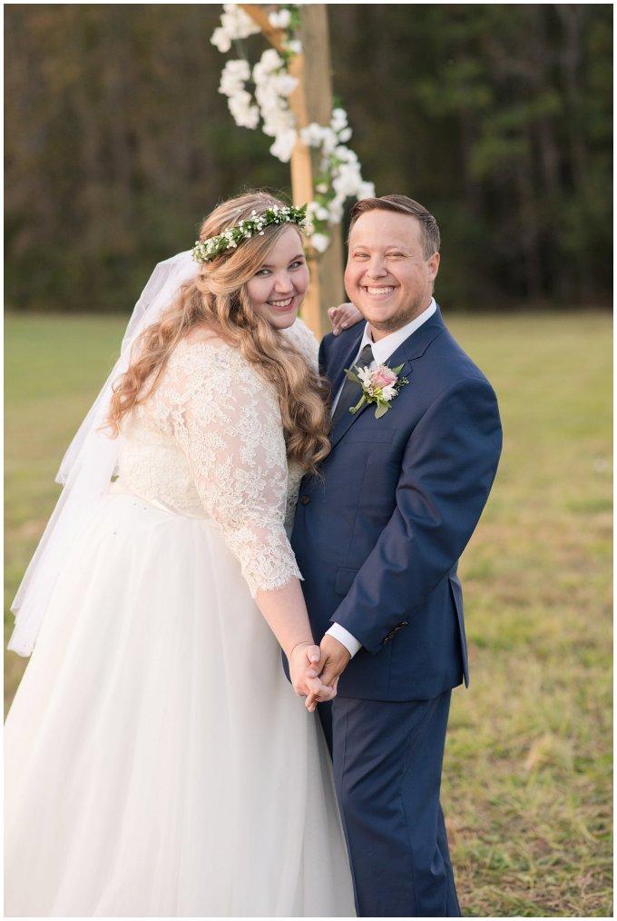 Navy Blue and Pink October Backyard North Carolina Wedding Virginia Wedding Photographers_7057