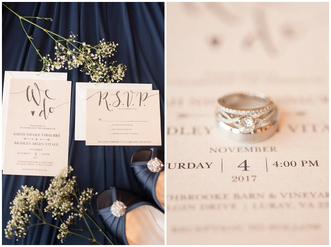 Navy Blue Blue Ridge Mountain Wedding Faithbrooke Farm Vineyard Luray Virginia Wedding Photographers_7124