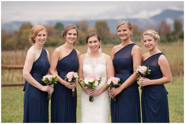 Navy Blue Blue Ridge Mountain Wedding Faithbrooke Farm Vineyard Luray Virginia Wedding Photographers_7160