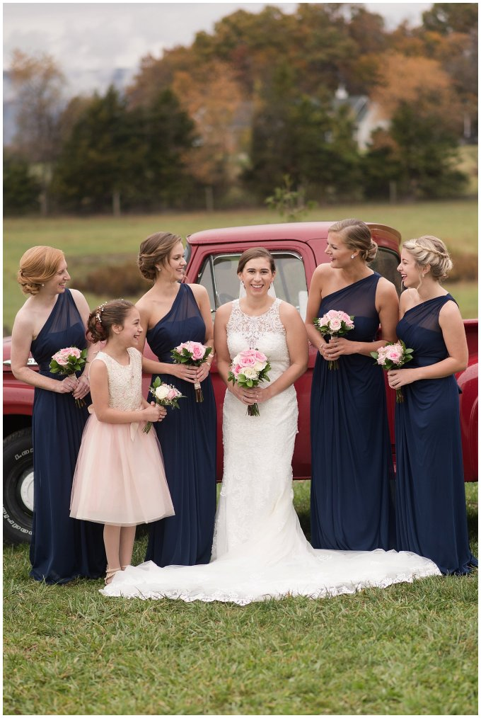 Navy Blue Blue Ridge Mountain Wedding Faithbrooke Farm Vineyard Luray Virginia Wedding Photographers_7161