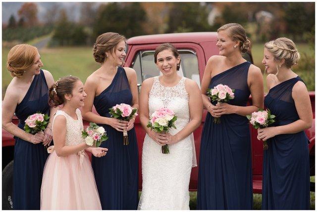 Navy Blue Blue Ridge Mountain Wedding Faithbrooke Farm Vineyard Luray Virginia Wedding Photographers_7162