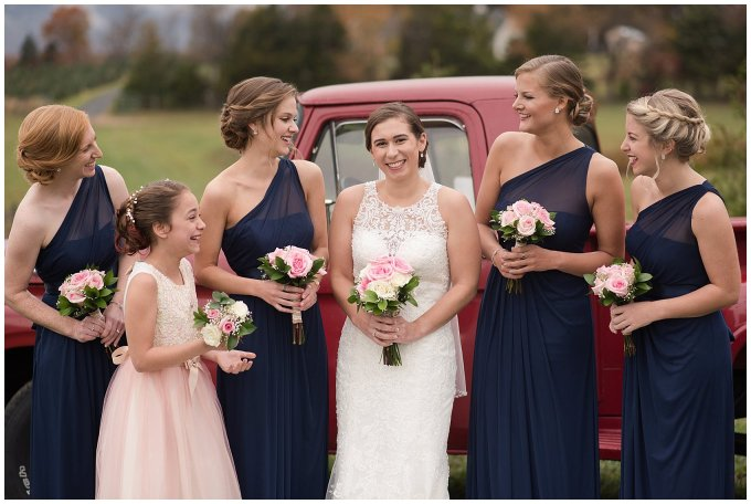 Navy Blue Blue Ridge Mountain Wedding Faithbrooke Farm Vineyard Luray Virginia Wedding Photographers_7162