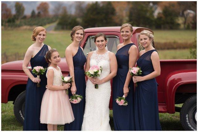 Navy Blue Blue Ridge Mountain Wedding Faithbrooke Farm Vineyard Luray Virginia Wedding Photographers_7164