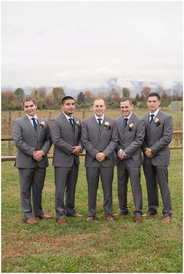 Navy Blue Blue Ridge Mountain Wedding Faithbrooke Farm Vineyard Luray Virginia Wedding Photographers_7169